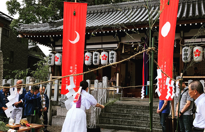 大阪松原市天満宮阿保神社夏の例大祭湯立て神楽