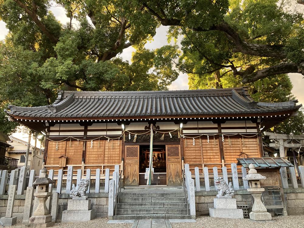 大阪阿保神社拝殿