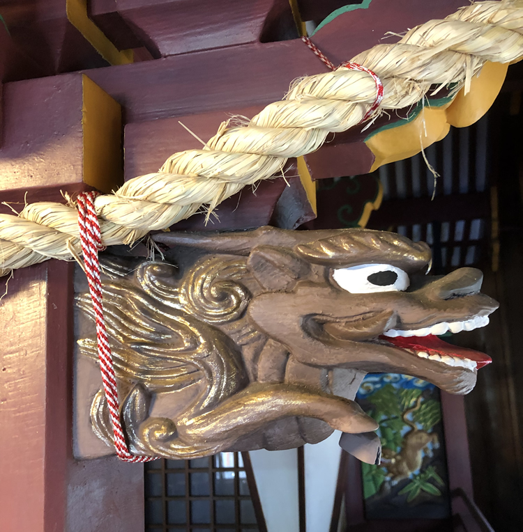 大阪天満宮 阿保神社『龍頭の木鼻』